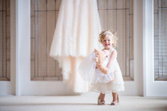 cute little baby wearing a dress